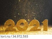 Happy new year 2021 celebration. Стоковое фото, фотограф Иван Михайлов / Фотобанк Лори