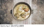 Delicious dish: stuffed bell pepper in a saucepan. Стоковое фото, фотограф Galina Tolochko / Фотобанк Лори