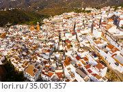 Central areas of Competa overlooking parish Church of Assumption, Spain. Стоковое фото, фотограф Яков Филимонов / Фотобанк Лори