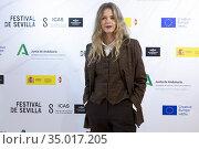 Christina Rosenvinge attend 'Karen' Photocall during 17 Festival ... Редакционное фото, фотограф Nacho López / age Fotostock / Фотобанк Лори