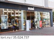 The Mavi shop is in center of city of Alanya. It is a Turkish brand of denim and jeans-wear based in Istanbul. Alanya, Turkey. Редакционное фото, фотограф Кекяляйнен Андрей / Фотобанк Лори