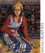 Roubtzoff Alexandre - Bedouine De Tunis - Russian School - 19th Century... Стоковое фото, фотограф Artepics / age Fotostock / Фотобанк Лори