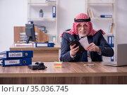 Old arab businessman in the office. Стоковое фото, фотограф Elnur / Фотобанк Лори