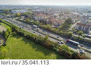 Superstrada Milano - Meda - Lentate, Cesano Maderno, Milan, Italy... Стоковое фото, фотограф Andre Maslennikov / age Fotostock / Фотобанк Лори