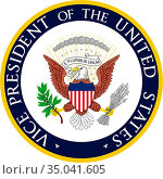 Seal of the Vice President of the United States of America. Стоковое фото, фотограф Peter Probst / age Fotostock / Фотобанк Лори