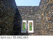 Windows, Basilica, Sanctuary, Nostra, Senyora, Meritxell, 1975, architect... Стоковое фото, фотограф Alfred Abad / age Fotostock / Фотобанк Лори