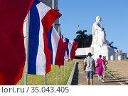 José Martí Memorial. Revolution square in Havana. (2017 год). Редакционное фото, фотограф Andre Maslennikov / age Fotostock / Фотобанк Лори