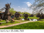 Myshkin folk open-air museum (2019 год). Редакционное фото, фотограф Юлия Бабкина / Фотобанк Лори