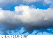 Beautiful dramatic clouds with blue sky background. Стоковое фото, фотограф А. А. Пирагис / Фотобанк Лори