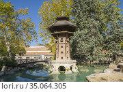 Alcoy Alicante Spain on November 1, 2020: La Glorieta city park. Стоковое фото, фотограф Ana del Castillo / age Fotostock / Фотобанк Лори