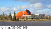 Astana Music Hall Restaurant in late autumn. Nur Sultan. Редакционное фото, фотограф Валерия Попова / Фотобанк Лори