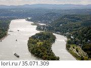 Drachenfels, Koenigswinter, North Rhine-Westphalia, Germany, Europe. Редакционное фото, агентство Caro Photoagency / Фотобанк Лори
