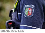 Police NRW, Neuss, North Rhine-Westphalia, Germany. Редакционное фото, агентство Caro Photoagency / Фотобанк Лори