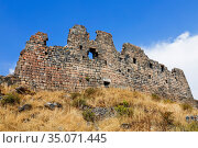 Medieval fortress Amberd on the slope of mount Aragats in Armenia (2018 год). Стоковое фото, фотограф Наталья Волкова / Фотобанк Лори