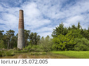 The historic Smitham Chimney at East Harptree Woods in the Mendip... Стоковое фото, фотограф Craig Joiner / age Fotostock / Фотобанк Лори