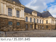 Rennes, France. Facade of Parliament of Brittany (Parlement de Bretagne) (2017 год). Редакционное фото, фотограф Rokhin Valery / Фотобанк Лори