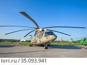 Российский тяжёлый многоцелевой транспортный вертолёт Ми-26Т2В на авиашоу МАКС-2019. Редакционное фото, фотограф Виктор Карасев / Фотобанк Лори