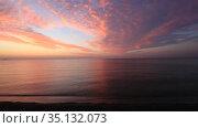 Красивые облака над морем на рассвете (2020 год). Стоковое видео, видеограф Яна Королёва / Фотобанк Лори