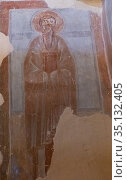 Church of the Transfiguration of the Savior. Wall paintings in the chapel -  unknown reverend. Стоковое фото, фотограф Олег Иванов / Фотобанк Лори
