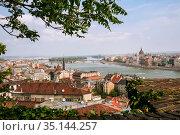 Budapest panoramic view (2007 год). Стоковое фото, фотограф Юлия Бабкина / Фотобанк Лори