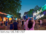 Switzerland, Vaud, Waadt, Montreux, ville, Stadt, city, Les quais... Стоковое фото, фотограф Stephan Engler / age Fotostock / Фотобанк Лори
