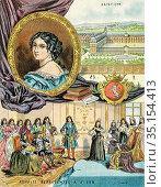 Old color lithography portrait of Madame de Maintenon. Françoise ... Стоковое фото, фотограф Jerónimo Alba / age Fotostock / Фотобанк Лори