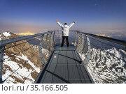 View point of The Observatory Of Pic Du Midi De Bigorre, Hautes Pyrenees... Стоковое фото, фотограф Sergi Reboredo / age Fotostock / Фотобанк Лори