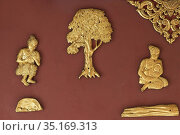Interior wall art work depicting scenes of the life of the previous... Стоковое фото, фотограф GFC Collection / age Fotostock / Фотобанк Лори