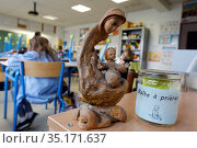 Catholic primary school in Montrouge, France. Стоковое фото, фотограф Philippe Lissac / Godong / age Fotostock / Фотобанк Лори