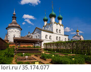Rostov Kremlin, vegetable garden (2019 год). Редакционное фото, фотограф Юлия Бабкина / Фотобанк Лори