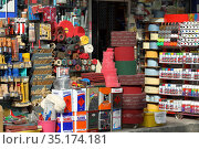 Market of building and finishing materials in the street. Commercial quarter Karakoy in the Beyoglu district of Istanbul, Turkey. Редакционное фото, фотограф Bala-Kate / Фотобанк Лори
