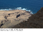 Gran Canaria, landscapes along the path to Punta de las Arenas cape on the western part of the island, also called Playa de Artenara. Стоковое фото, фотограф Tamara Kulikova / Фотобанк Лори