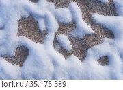 Snow patterns in the sand. Стоковое фото, фотограф Serg Zastavkin / Фотобанк Лори