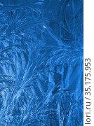 Настоящие ледяные узоры. Стоковое фото, фотограф Наталья Горкина / Фотобанк Лори