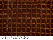 Old rusted metal grid background texture. Стоковое фото, фотограф Данил Руденко / Фотобанк Лори