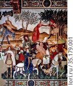 Art, Medieval Italian art, Castle of Manta, Baronial Hall, title ... Стоковое фото, фотограф Molteni & Motta / age Fotostock / Фотобанк Лори