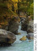 Canyon in mountains. Стоковое фото, фотограф александр жарников / Фотобанк Лори