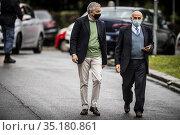 Extraordinary Commissioner for the COVID-19 emergency, Domenico Arcuri... Редакционное фото, фотограф Alessandro Serrano' / AGF/Alessandro Serrano' / / age Fotostock / Фотобанк Лори