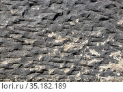 Фон из каменной стены древних ворот Порта-Нигра (Черные ворота) в Трире, Германия. Стоковое фото, фотограф V.Ivantsov / Фотобанк Лори