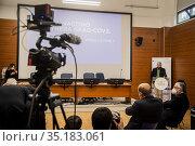 Domenico Arcuri Extraordinary Commissioner for the COVID-19 emergency... Редакционное фото, фотограф Alessandro Serrano' / AGF/Alessandro Serrano' / / age Fotostock / Фотобанк Лори