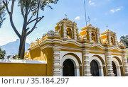 Entrance gate of the Chapel El Calvario. Antigua. Guatemala. Стоковое фото, фотограф Николай Коржов / Фотобанк Лори