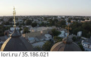 top view of the old low-rise quarter. Стоковое видео, видеограф Aleksandr Sulimov / Фотобанк Лори
