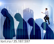 Business people climbing career ladder in business concept. Стоковое фото, фотограф Elnur / Фотобанк Лори