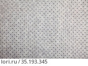 Close up view on gray textile texture with dots. Стоковое фото, фотограф Яков Филимонов / Фотобанк Лори