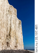 England, East Sussex, Eastbourne, Birling Gap, The Seven Sisters ... Стоковое фото, фотограф Steve Vidler / age Fotostock / Фотобанк Лори