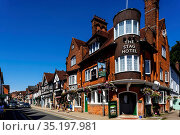 England, Hampshire, New Forest, Lyndhurst, Street Scene. Стоковое фото, фотограф Steve Vidler / age Fotostock / Фотобанк Лори