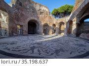Terme dei Sette Sapienti, Ostia Antica, Rome, Lazio, Italy, Europe. Стоковое фото, фотограф ProCip / age Fotostock / Фотобанк Лори