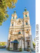 Roman Catholic Church of Divine Providence in Bielsko Biala, Silesian... Стоковое фото, фотограф Chris Mouyiaris / age Fotostock / Фотобанк Лори