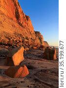 Landslide, Torrey Pines State Beach, Del Mar, San Diego County, California... Стоковое фото, фотограф Richard Cummins / age Fotostock / Фотобанк Лори