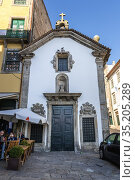 Our Lady of Hope of O chapel (Capela de Nossa Senhora do O) in Porto... Стоковое фото, фотограф Konrad Zelazowski / age Fotostock / Фотобанк Лори